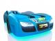 Кровать-машинка Romak Renner 2 голубая купить