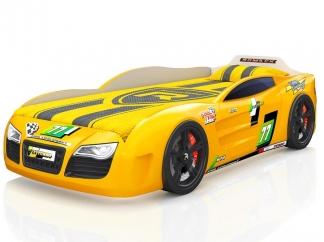 Кровать-машинка Romak Renner 2 желтая