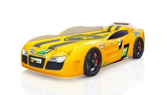 Кровать-машинка Renner 2 желтая
