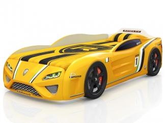 Кровать-машинка SportLine желтая
