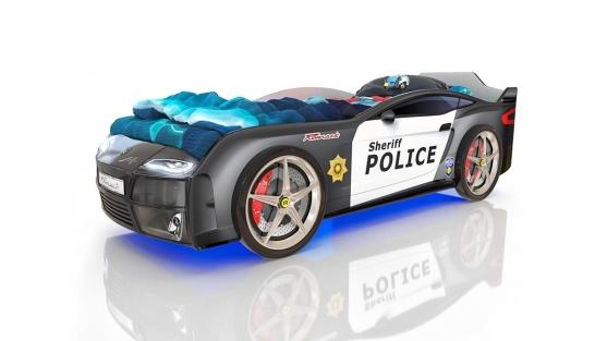 Кровать-машинка Romak Kiddy Полиция купить