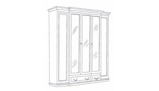 Шкаф 5-ти дверный Леди купить