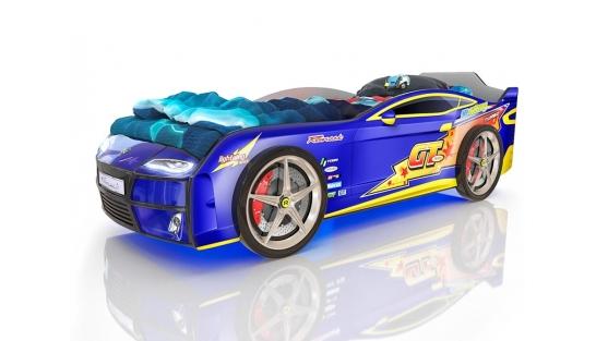 Кровать Romak Kiddy Молния синяя купить