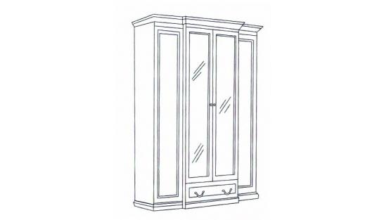 Шкаф 4-х дверный Леди