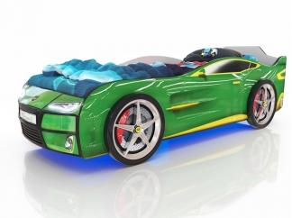 Кровать-машинка Romak Kiddy зеленая