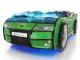 Кровать-машинка Romak Kiddy зеленая купить