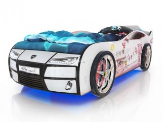 Кровать Romak Kiddy Мишка белая