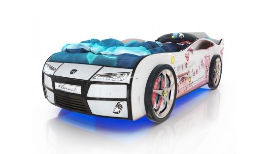 Кровать Kiddy Мишка белая