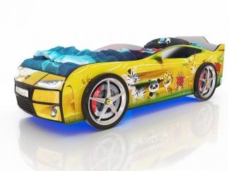 Кровать Romak Kiddy Зверята желтая