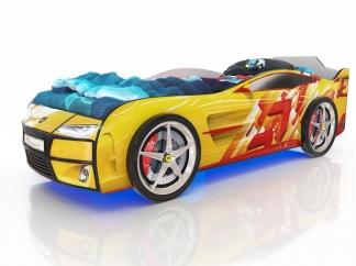 Кровать Kiddy Линии желтая
