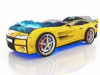 Кровать-машинка Romak Kiddy желтая