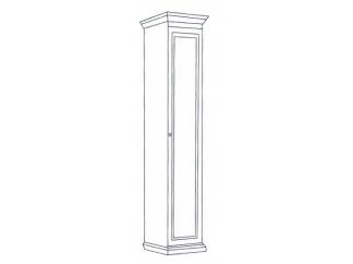 Шкаф 1-но дверный Леди (модульная)