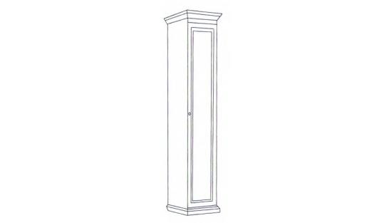 Шкаф 1-но дверный Леди (модульная) купить