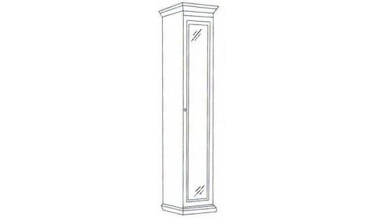 Шкаф 1-но дверный зеркальный Леди (модульная)