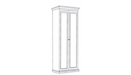 Шкаф 2-х дверный Леди (модульная) купить