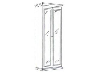 Шкаф 2-х дверный зеркальный Леди (модульная)