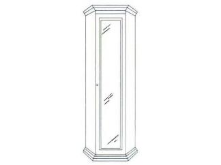 Шкаф угловой зеркальный Леди (модульная)
