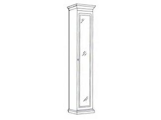 Шкаф 1-но дверный зеркальный Лилия-модуль
