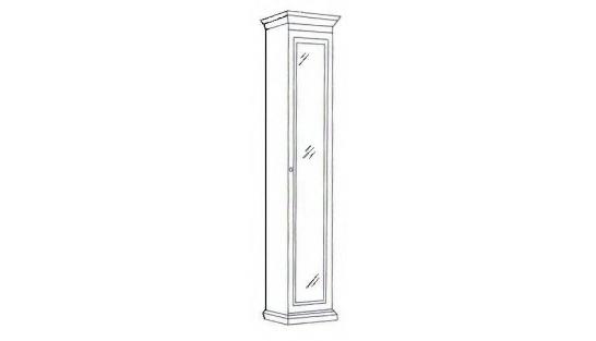 Шкаф 1-но дверный зеркальный Лилия-модуль купить