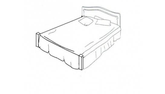 Кровать сп.место 1200х2000 (без ножной спинки) Суламифъ