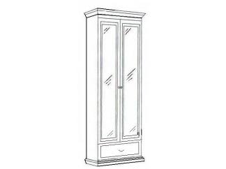 Шкаф 2-х дверный зеркальный Лилия-модуль