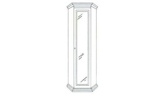 Шкаф угловой зеркальный Лилия-модуль