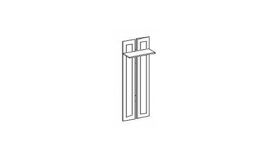 Вешалка (2 крючка) Лилия-модуль
