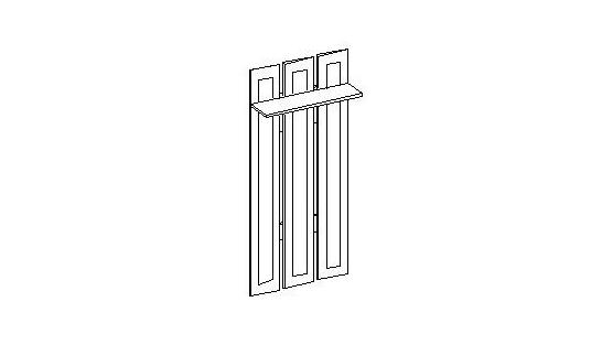 Вешалка (3 крючка) Лилия-модуль