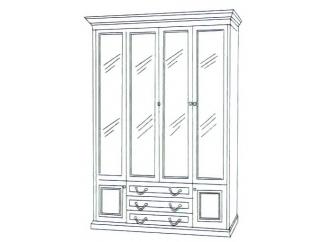 Шкаф книжный 4-х дверный ГОСУДАРЬ