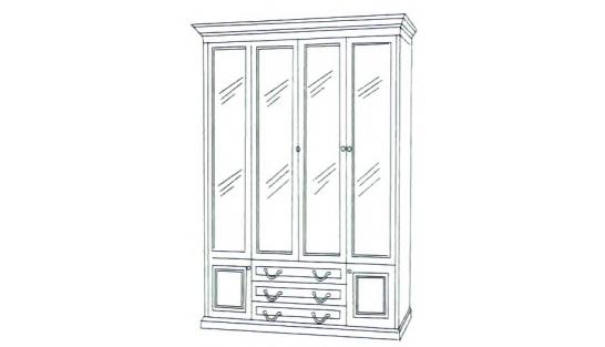 Шкаф книжный 4-х дверный ГОСУДАРЬ купить