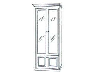 Шкаф книжный 2-х дверный ГОСУДАРЬ
