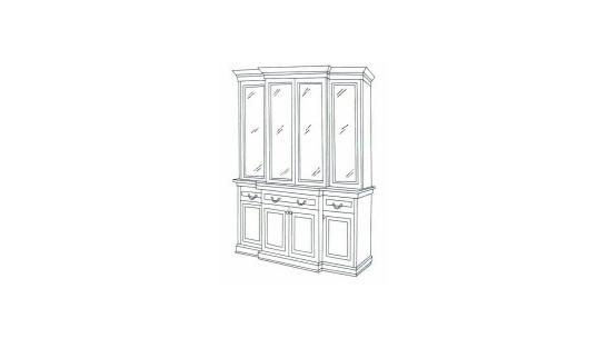 Шкаф с витриной СОЛОМОН