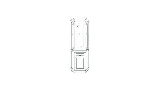 Шкаф с витриной угловой СОЛОМОН