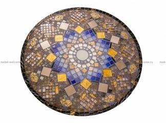 Кованый столик с мозаикой Золотая лихорадка_28 D50см купить