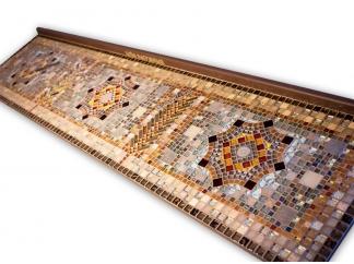 Стол декорированный мозаикой Ремих_12 190*50см
