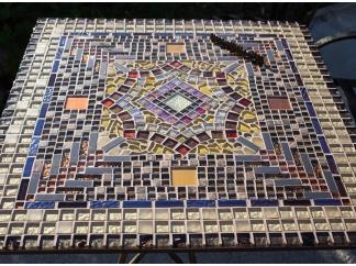Стол с мозаичной столешницей Квадро_7 70*70см