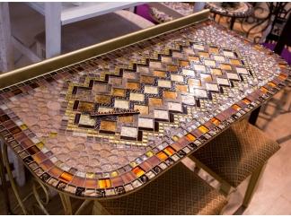 Столик с мозаикой  Консоль_3 55*120см