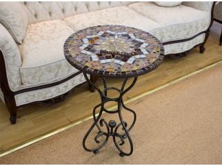Стол с мозаичной столешницей Эрика_43 D40