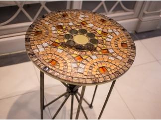 Столик с мозаикой  Венский кофе_30С D50
