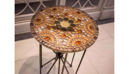 Столик с мозаикой Венский кофе_30С D50 купить