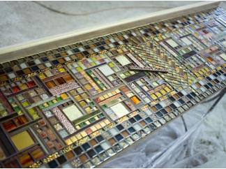 Стол декорированный мозаикой Ремих_13 184*45см