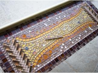 Стол декорированный мозаикой Ремих_14 110*45см