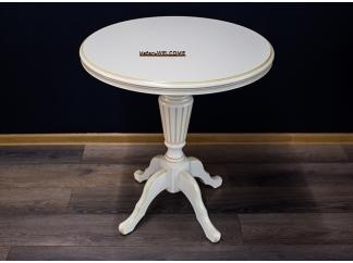 Чайный столик 70 белый с золотом