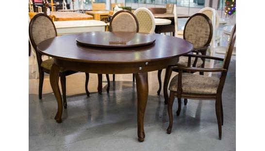 Стол с вращающейся серединой Понте 2 раскладной, лак, диаметр 150 см купить
