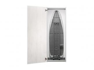 Гладильная доска зеркало Айрон Слим Эко беленый дуб/венге распашная