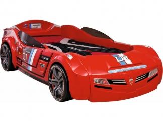 Champion racer Кровать-машина BiTurbo, красная, сп. м. 90х195