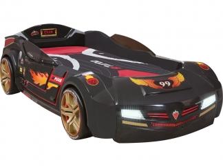 Champion racer Кровать-машина BiTurbo, цвет антрацит, сп. м. 90х195