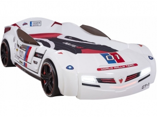 Champion racer Кровать-машина BiTurbo, белая, сп. м. 90х195