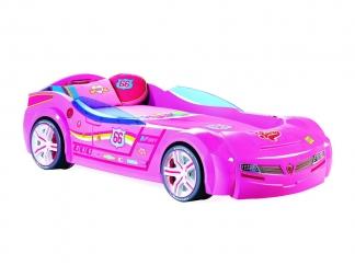 Champion racer Кровать-машина BiTurbo, розовая, сп. м. 90х195