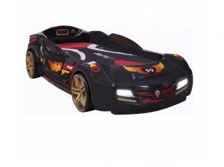 Champion racer Кровать-машина BiTurbo, черная, сп. м. 90х195